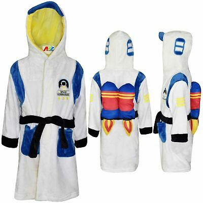 Kids Boys Girls Bathrobe Space Commander Dressing Gown Night Lounge Wear 2-13 Yr