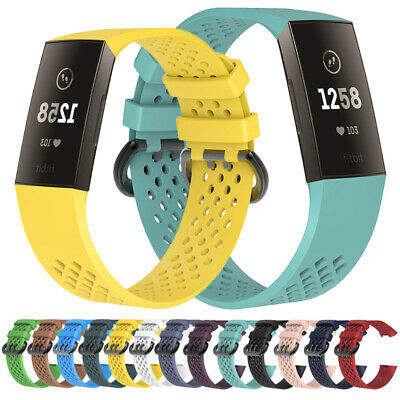 Wrist Bracelet For Fitbit Charge 3 Watch Band Replacement Silicone Breathable