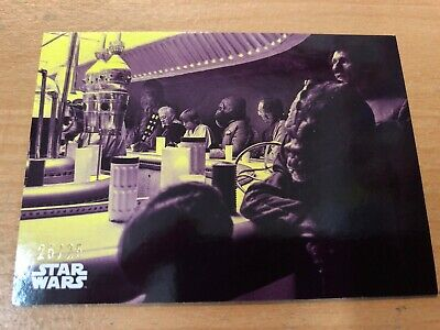 2018 Star Wars A New Hope Black & White Purple Parallel Card #45-25/25