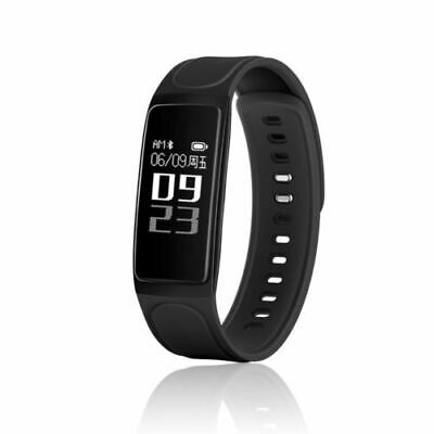 OLED Oxygen Heart Rate Fitness Blood Pressure Smart Watch Wristband Black IP67