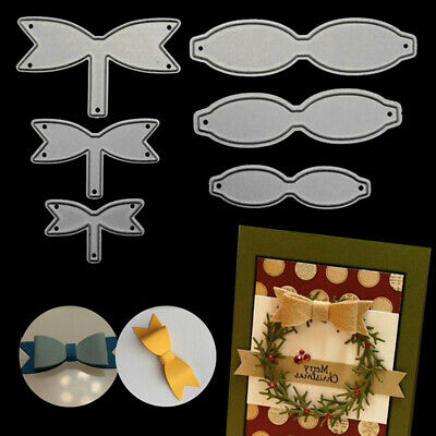6pcs Bowknot Bows Cutting Dies Stencil for DIY Scrapbooking Embossing Card Craft