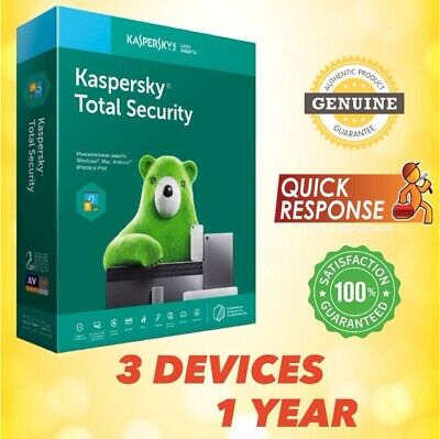 KASPERSKY TOTAL SECURITY 2019 3 PC / 3 Device / 1 Year Windows Mac Android