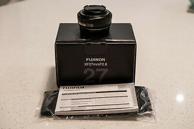 NEW Fujifilm XF 27mm f/2.8 F2.8 Pancake Lens in Black FAST UK DELIVERY