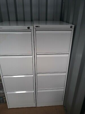 Metal 4 drawer filing cabinet grey good condition
