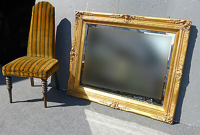 Gorgeous French Provincial Gold Gilt Wall Mantle Mirror