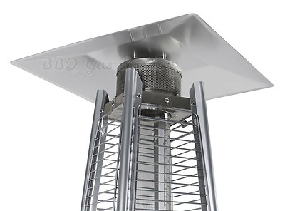 Universal Top Square Reflector Shield Canopy - Flame Pyramid Patio Heater