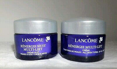 Lancome Renergie Multi-Lift Day SPF 15 & Night Face & Neck  Creams 15 ml