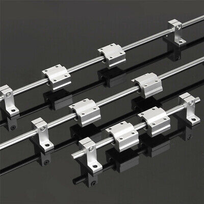 200/600/800mm x 8mm Linear Rail Shaft Rod with Bearing Guide Support and SCS8UU