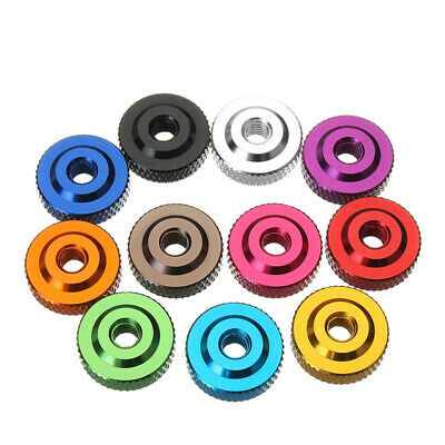 Suleve M6AN2 10Pcs M6 Knurled Thumb Nut w/ Collar Screw Spacer Washer Aluminum A