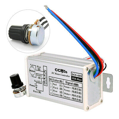 New 12v 24v 20a Max Electrical Equipments & Supplies Pwm Dc Motor Stepless Variable Speed Controller 25khz Switch Popular
