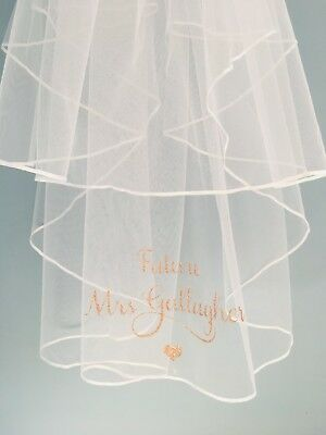 Personalised Luxury Two Tier Veil Bride To Be Bachelorette Hen Party