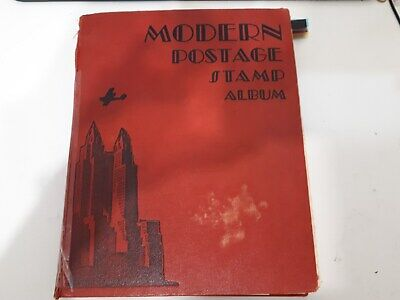 Old Modern Postage Stamp Album : World Collection- 2350 Used Stamps.
