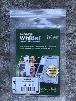 GENUINE WhiBal G7 Certified Neutral White Balance Card - Michael Tapes