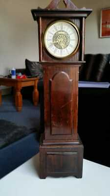 "Rare 18"" Antique Working West German Miniature Grandfather Clock"