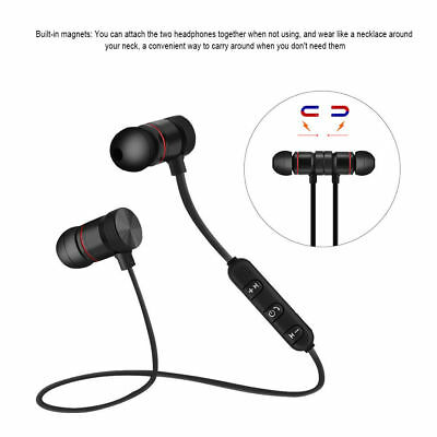 Bluetooth Sport Headphones Magnetic Wireless Earphones In-Ear Headset Waterproof
