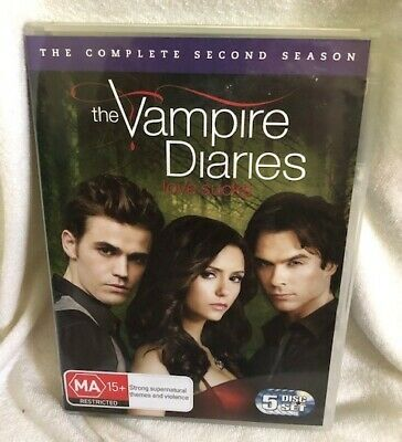 The Vampire Diaries Season 2 Dvd - Very Good Condition - Region 4