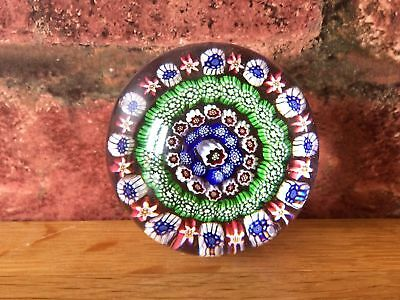 Superb Rare 1852 Antique Victorian Baccarat Four Ring Concentric Paperweight