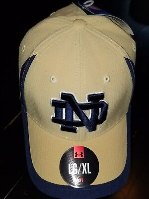 de6812f86a4cb  1244 L XL Notre Dame Fighting Irish Under Armour Hat-Gold W