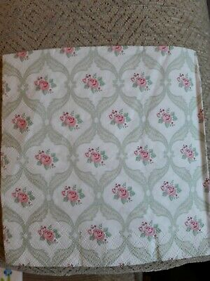 4 Lunch Paper Napkins for Decoupage Dainty Victorian Flowers Vintage