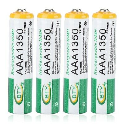 4X 1.2V AA AAA 3000mAh Rechargeable Ni-MH NIMH Battery Batteries for Flashlight