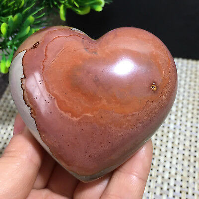 234g  NATURAL POLISHED POLYCHROME JASPER HEART From Madagascar  a10150