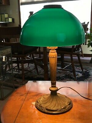 Antique Pilabrasco Art Deco Cast Metal Or Brass Table Lamp