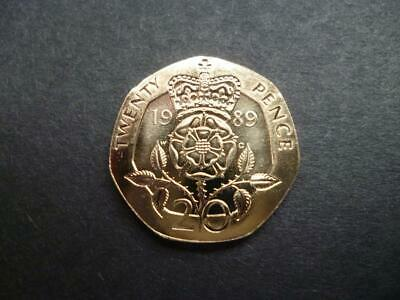 1989 Brilliant Uncirculated Twenty Pence Piece 1989 Uncirculated 20P Coin.