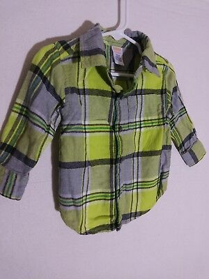 Gymboree baby boy 12-18 months plaid flannel shirt long sleeve button down