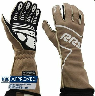 Gants pilote FIA RRS VIRAGE (coutures externes) Marron