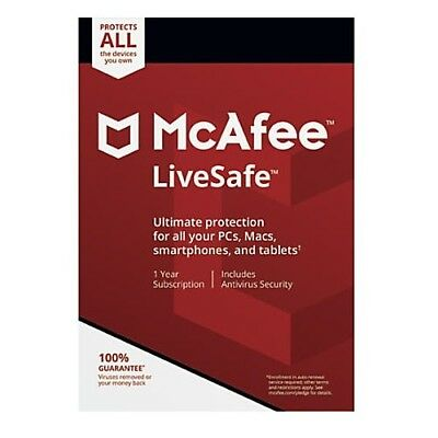 Mcafee Livesafe 2019 Multi-devices Pc Mac Android 1 year Digital Version