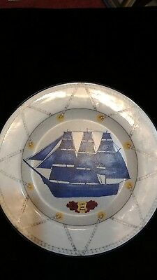 """AMERICAN ATELIER TALL SHIPS 5235  HMS  Bounty 1787 8"""" SALAD PLATE"""