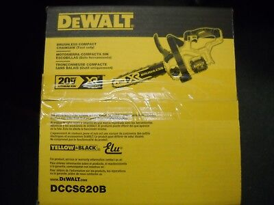 """DEWALT DCCS620B 20V Max 12"""" Compact Cordless Chainsaw Bare Tool Brushless"""