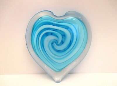 Turquoise Hand Crafted Art Glass Paperweight