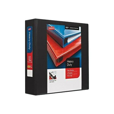 "Staples Heavy Duty 2"" 3-Ring View Binder Black (24684) 82679"