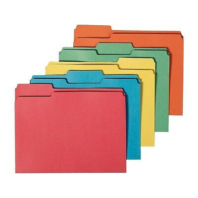Staples 100% Recy Colored File Folders Letter 3 Tab Assorted Positions 50/BX