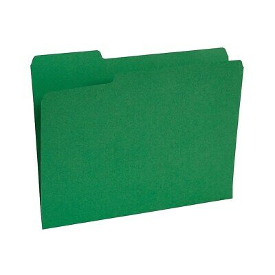 Staples Colored Top-Tab File Folders 3 Tab Green Letter Size 100/Pack 224543