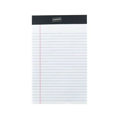 "Staples Notepads 5"" x 8"" Narrow White 50 Sheets/Pad 12 Pads/Pack 163873"