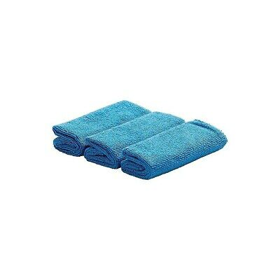 Staples Microfiber Dry Cloths Blue 3/Pack (19697) 775499