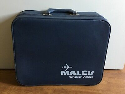 Vintage MALEV Hungarian Airlines Crew bag, RARE!