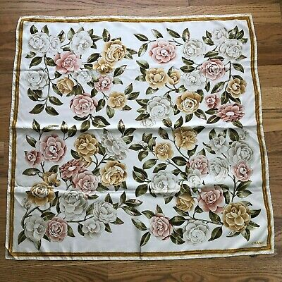 6fbf1d44aaa Vintage Chanel Scarf 100% Silk Romantic Multi-Color Floral Large 35