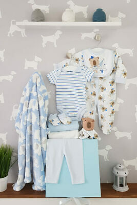 PERSONALISED 'Little Bear' New Baby Boy Gift Hamper, Baby Shower Present LARGE