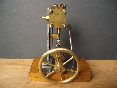 Vertical Stationary Model Steam Engine. Brass & Steel. Slide Valve. Live Steam.