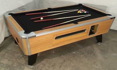 Valley Cougar Zd-7 Coin-Op 7' Bar Size Pool Table  Totally Refurbished In Black