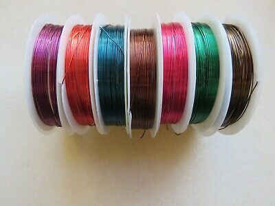 7M 0.5mm (24 Gauge) Copper Wire Wrapping Beading Craft & Jewellery Making UK