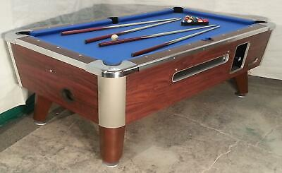 Two Valley Cougar Commercial 7' Coin-Op Bar Size Pool Tables Model Zd-4 In Blue