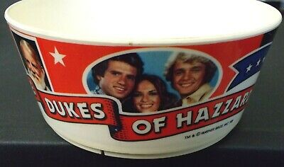 vintage 1981 Dukes of Hazzard BOWL kids dish Deka Plastics dishes kitchen 80s TV