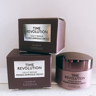 MISSHA Time Revolution Night repair Probio Ampoule Cream 7ml x 2pcs, Korea Cosme