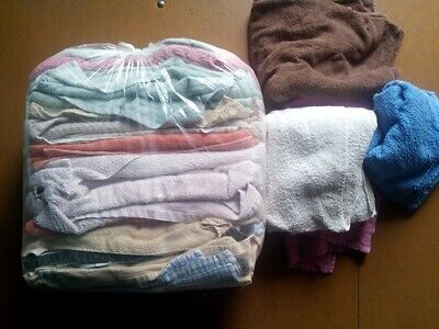 10Kg. Toweling,mixed Coloured,mechanic,industrial Cleaning Rags/wipers