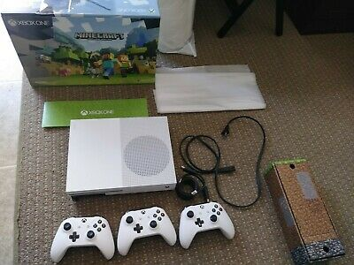 Microsoft Xbox One S 500GB Console with 3 controllers