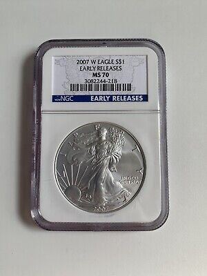 2007-W 1 oz. Silver American Eagle EARLY RELEASE NGC: MS 70